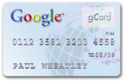 Carta di credito Google