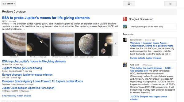 Google news real time