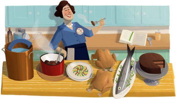 Julia Child–Google Doodle