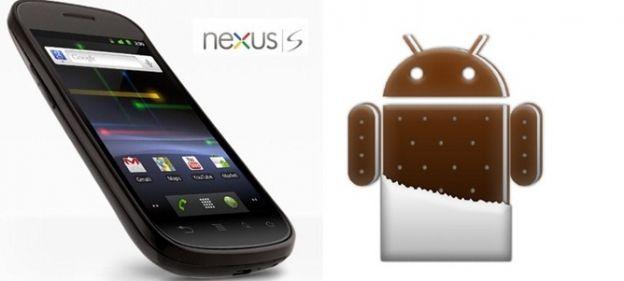 Nexus S Android 4.0 ice cream sandwich