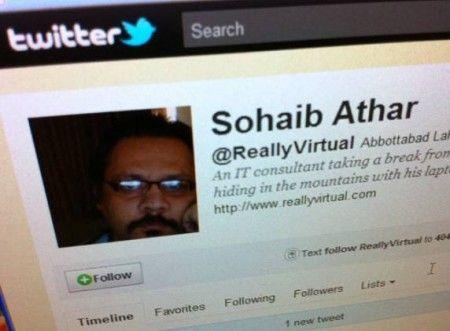 Osama Bin Laden Sohaib Athar Twitter