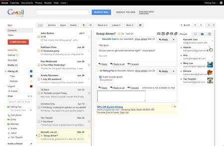 account gmail beta riquadro anteprima