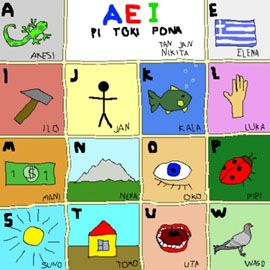 toki pona alfabeto
