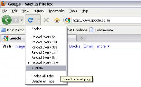aggiornare pagine firefox