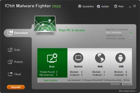antivirus free IObit Malware Fighter