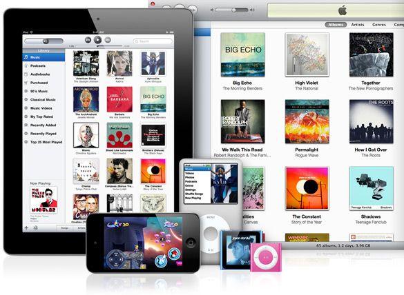 apple itunes grafica