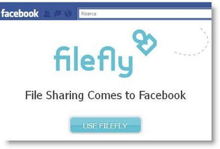 applicazioni facebook condividere file filefly