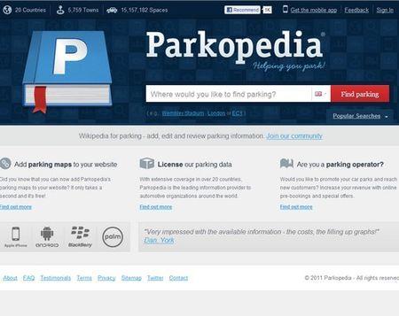 applicazioni web utili trovare parcheggio parkopedia