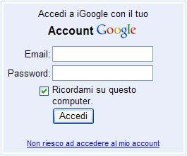 Bug nel sistema di autenticazione di Google