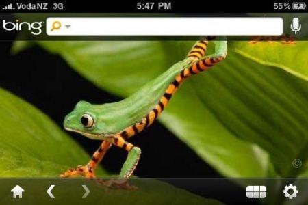 Apple iPhone Microsoft Bing