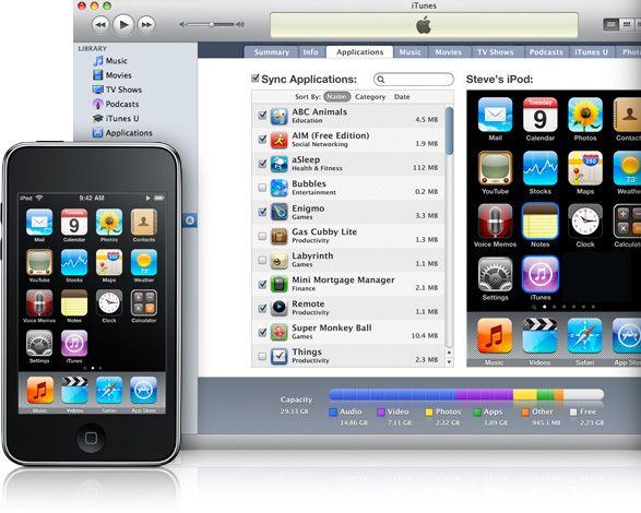caricare musica iphone