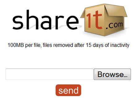condivisione file online gratis share1t