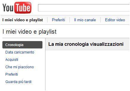 creare playlist youtube