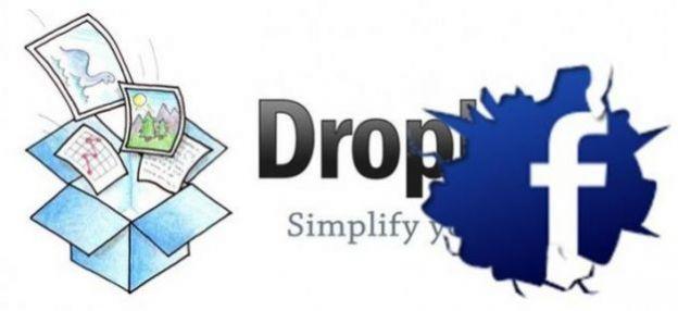 dropbox facebook foto
