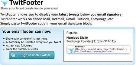 email firmate aggiornamenti twitter twitfooter