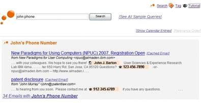 IBM OmniFind Personal Email Search