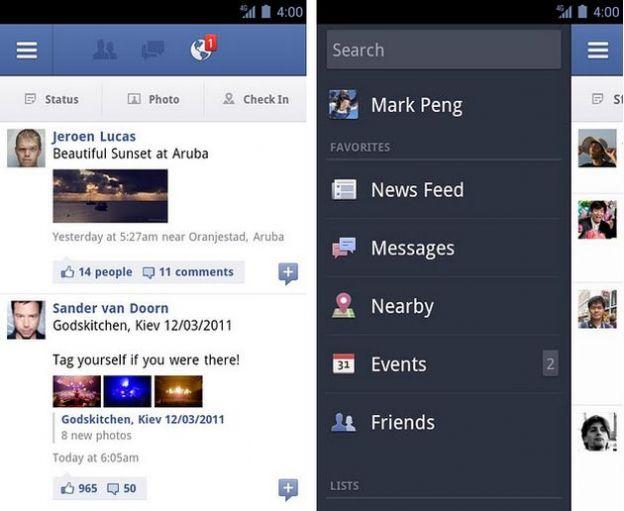 facebook android aggiornamento