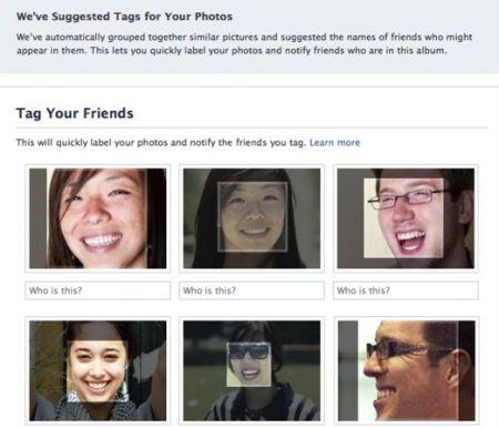 facebook foto tag riconoscimento facciale