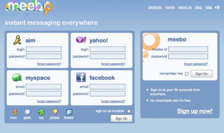 facebook su meebo