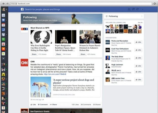 facebook timeline news feed