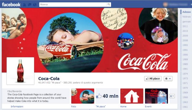 facebook timeline pagine