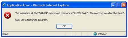 messaggio di errore finto di Windows