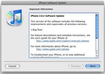 Firmware iPhone 2.0.2