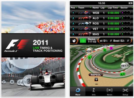 formula 1 iphone app f1 2011 timing app