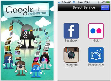 foto facebook google plus photo importer