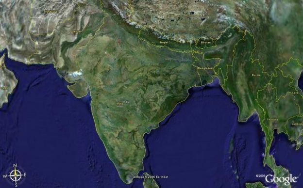 foto google earth india