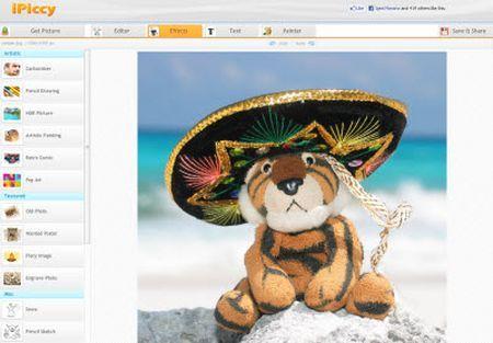 fotoritocco gratis editor immagini online iPiccy