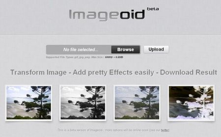fotoritocco gratis effetti speciali foto ImageOid