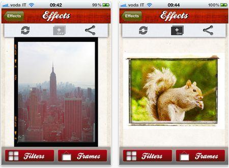fotoritocco gratis filtri cornici iphone effects