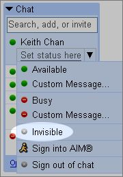 gmail chat invisibile