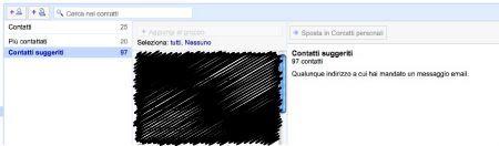 Gmail contatti suggeriti