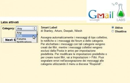 gmail etichette smart labels