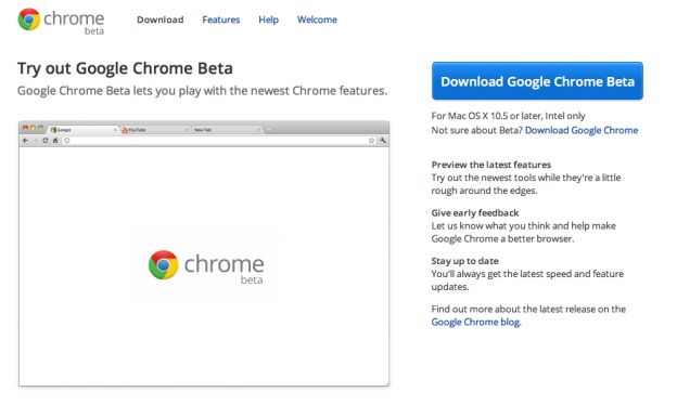 google chrome 19 beta