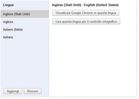 google chrome italiano