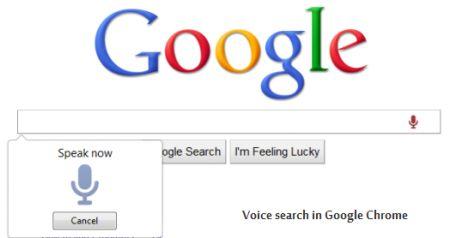 google chrome ricerca vocale