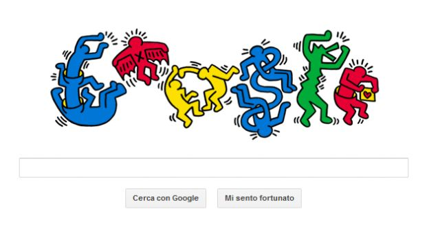 google doodle keith haring