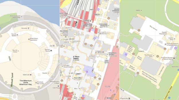 google maps indoor planimetrie