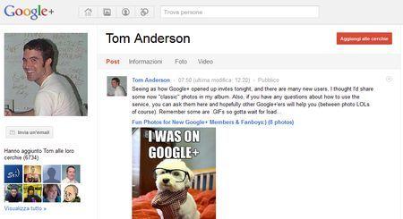 google plus tom anderson myspace