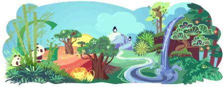 google doodle earth day giorno della terra