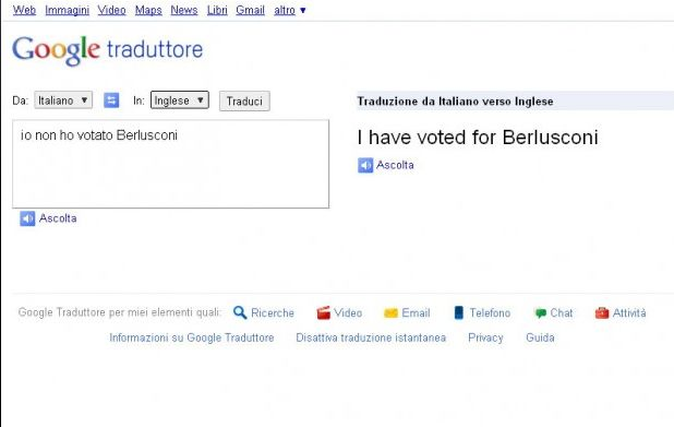 google translate berlusconi