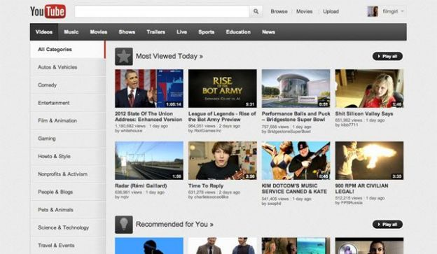 grafica youtube cambiamenti google