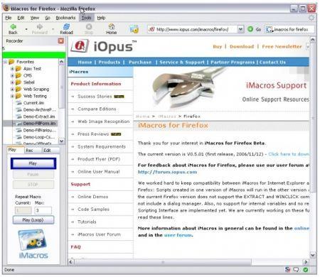 imacros screenshot