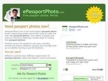 internet foto formato fototessera