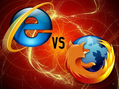 internet explorer vs firefox