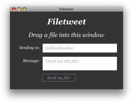 inviare file twitter