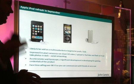 Si sospetta che il nuovo iPod touch con Retina Display verrà rilasciato a settembre